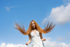 Girl with red hair Royalty Free Stock Photos