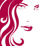 Girl with red hair royalty free illustration