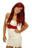 The girl with red hair Stock Images