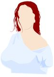Girl and red hair Royalty Free Stock Images