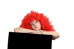 Girl with red hair. Royalty Free Stock Photos