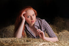 Girl with red hair Stock Image