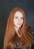 Girl with red hair Stock Images