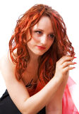 The girl with red hair Stock Photos