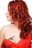 The girl with red hair Royalty Free Stock Images