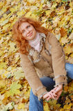 Girl with red hair Royalty Free Stock Photo