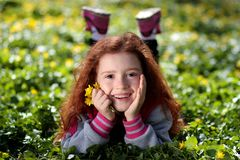 Girl, Red Hair, Freckles, Portrait Royalty Free Stock Photos