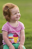 Girl red hair smiling happy Royalty Free Stock Photos