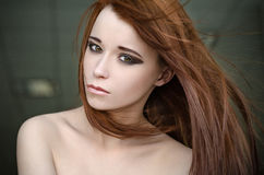Girl with red hair Stock Photo