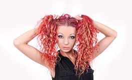 Girl with red hair Stock Photos