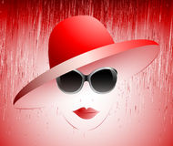 Girl in a red hat Stock Photos