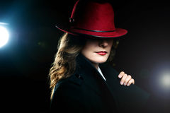 The girl in a red hat Royalty Free Stock Photography