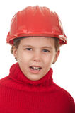 Girl with a red helmet Stock Photo