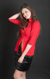 Girl in red jacket Stock Photography
