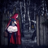 Girl Red Riding Hood with automatic Stock Photos