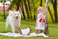 Girl red riding hood Royalty Free Stock Image