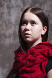 Girl with red scarf Stock Photos