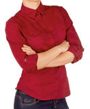 Girl in red shirt Royalty Free Stock Images
