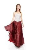 Girl in red skirt Royalty Free Stock Photos