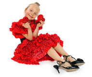 The girl in a red Spanish dress (series) Royalty Free Stock Photography
