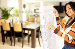 Girl redecorating home Stock Photo