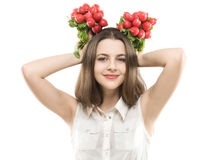 Girl with redish Royalty Free Stock Photography