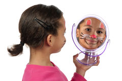 Girl reflection Stock Image