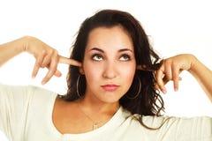 Girl refusing to listen to something