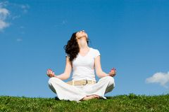 Free Girl Relax In Green Grass Royalty Free Stock Photo - 7548615