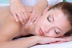 girl relaxation salon spa Στοκ Φωτογραφίες