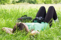 Girl relaxing Stock Image