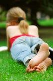 Girl relaxing Stock Photography