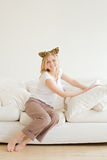 Girl Relaxing Stock Photos