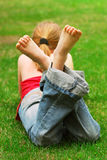 Girl relaxing Royalty Free Stock Image