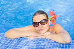 Girl relaxing Royalty Free Stock Photos