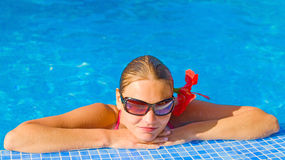 Girl relaxing Royalty Free Stock Images