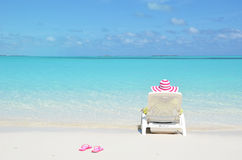 Girl relaxing on the beach Stock Photography