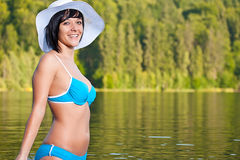 Girl relaxing in bikini Royalty Free Stock Photo