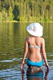 Girl relaxing in bikini Royalty Free Stock Photo