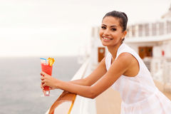 Girl relaxing cruise Royalty Free Stock Photography