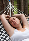Girl Relaxing in Hammock Stock Photography