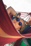 Girl Relaxing In Hammock Royalty Free Stock Photos
