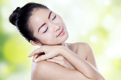 Girl relaxing with healthy skin Royalty Free Stock Images