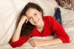 Girl relaxing Stock Image