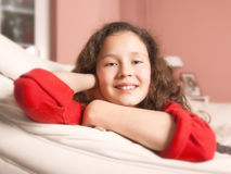 Girl relaxing Royalty Free Stock Photography