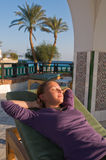 Girl relaxing on vacations Royalty Free Stock Images