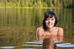 Girl relaxing in water Royalty Free Stock Photo