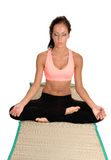 Girl relaxing with yoga. Royalty Free Stock Photos