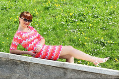 Girl relaxing Royalty Free Stock Photo