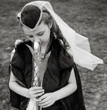 Girl in the Renaissance  Dress. Girl in the Renaissance Juliet Dress Royalty Free Stock Image